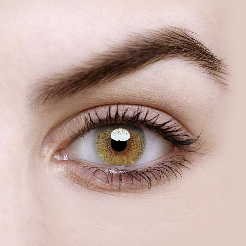 Vandora Party Daisy Yellow Colored Contact Lenses