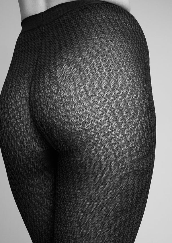 Agnes Houndstooth tights | black