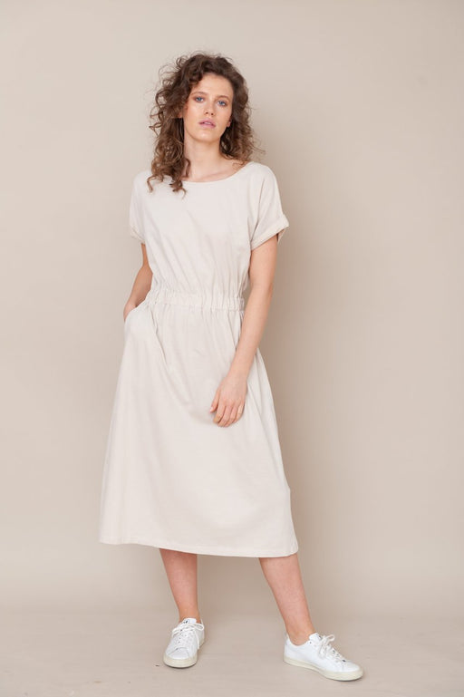 Marissa Organic Cotton Dress - Bone - fairoase.ch