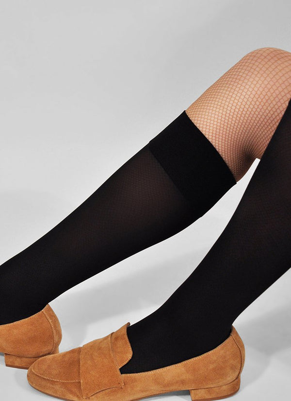 Ingrid Knee High Socks | black