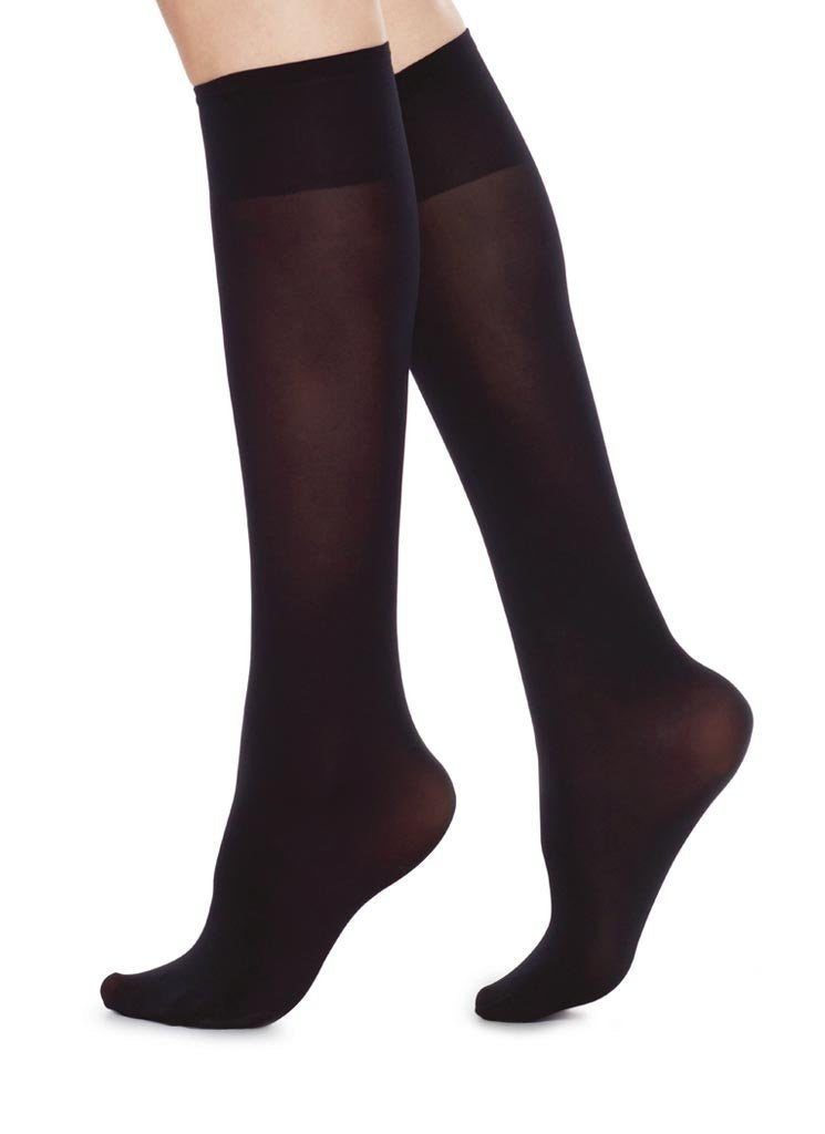 Ingrid Knee High Socken | Schwarz