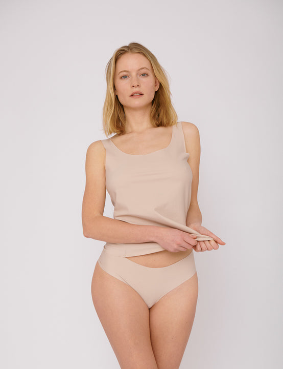 Invisible Cheeky Thongs - 2er Pack (Rose Nude) - Slow Fashion Zürich (Schweiz) für deine Capsule Wardrobe.