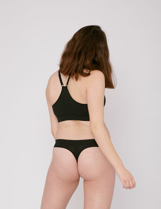 Invisible Cheeky Thongs - 2er Pack (Black) - Slow Fashion Zürich (Schweiz) für deine Capsule Wardrobe.