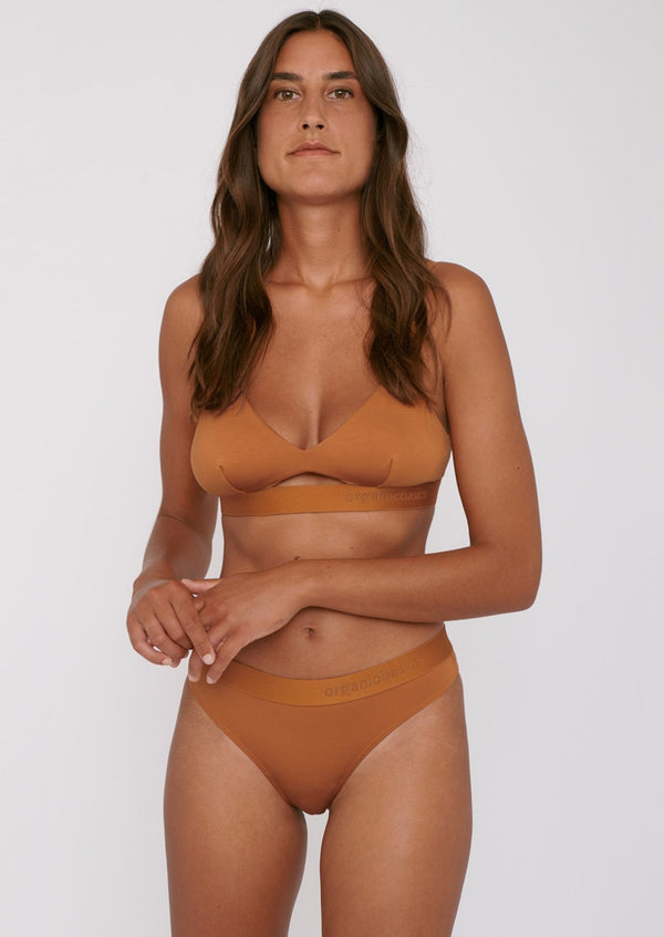 Tencel ™ Lite thong | Ocher pack of 2