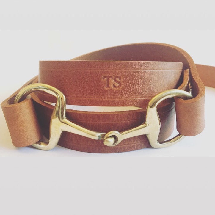 The Snaffle Clasp Belt- Tan Leather
