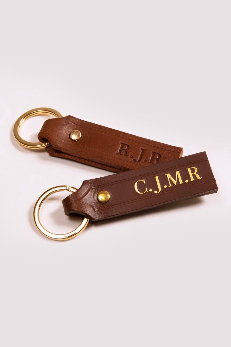 Personalised Leather Key Ring