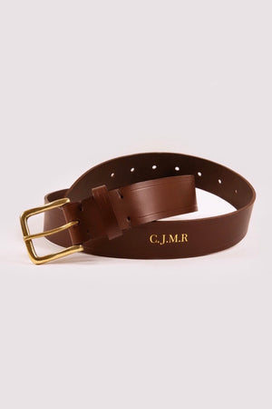 Men's Brown Leather Belt