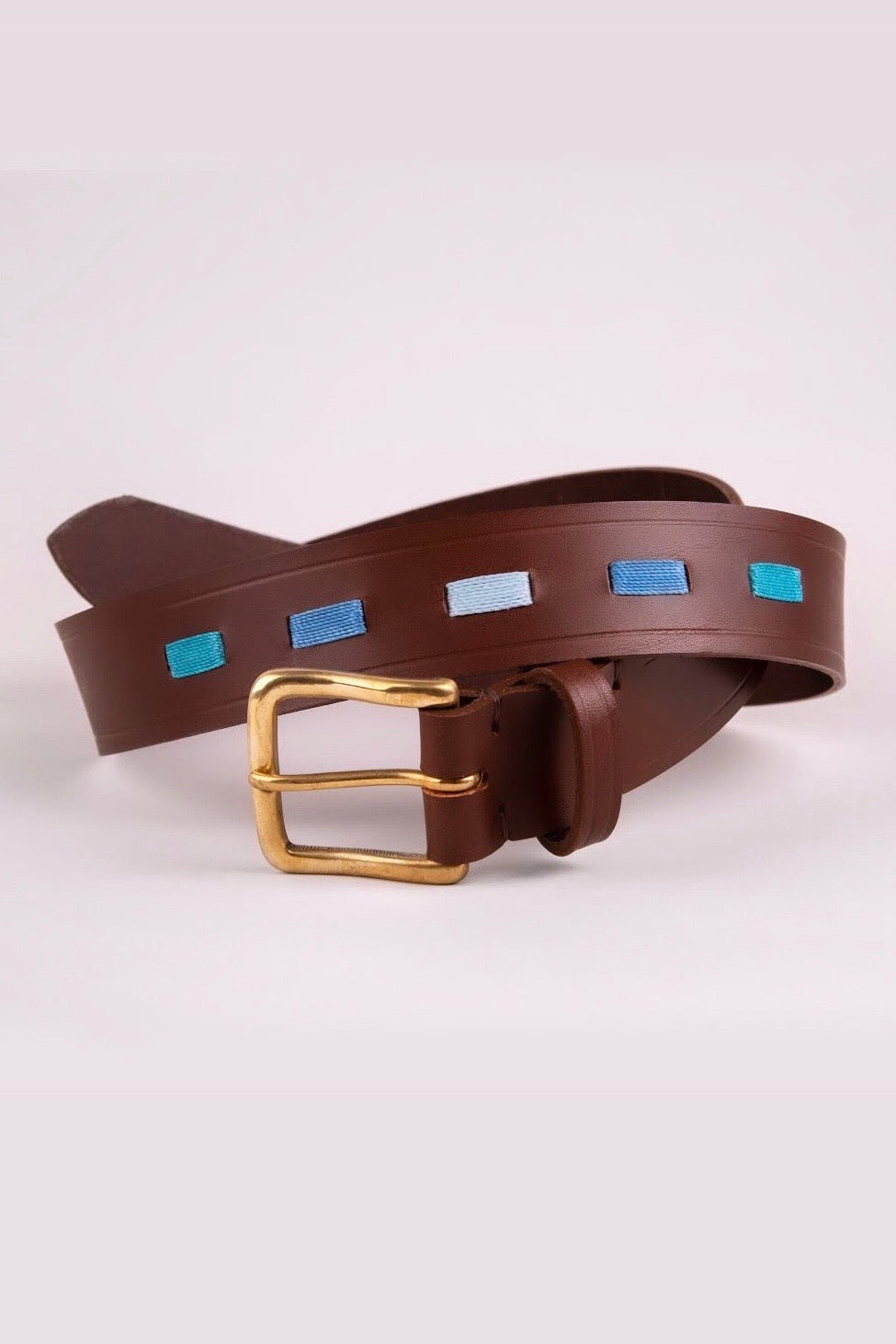 Men's Polo Belt- Ascot Blue