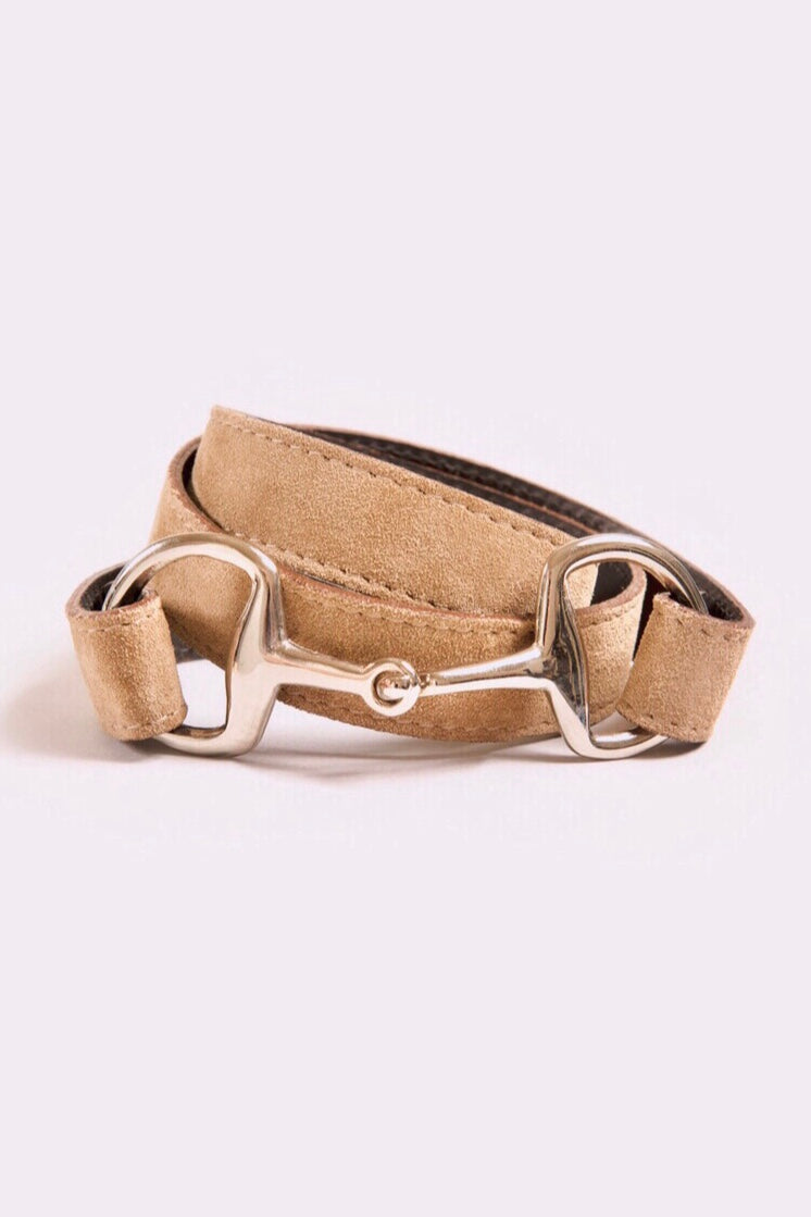 The Snaffle Clasp | Fawn Suede