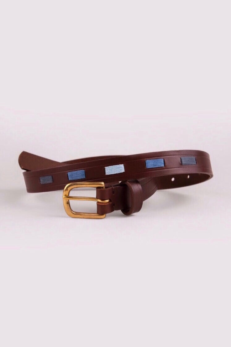 Women's Ascot Blue Polo Belt