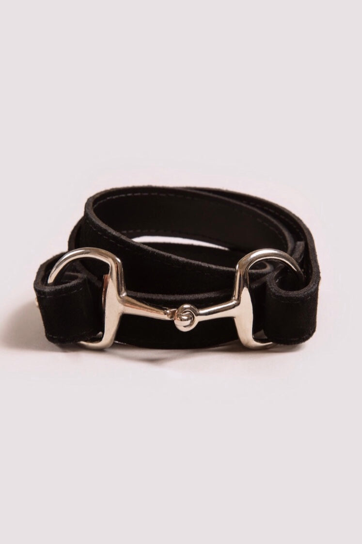The Snaffle Clasp | Black Suede