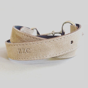 The Snaffle Clasp Belt- Fawn Suede