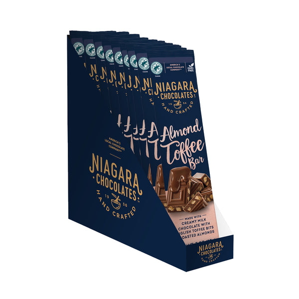 Milk Chocolate Almond Toffee Bar - 8 Pack