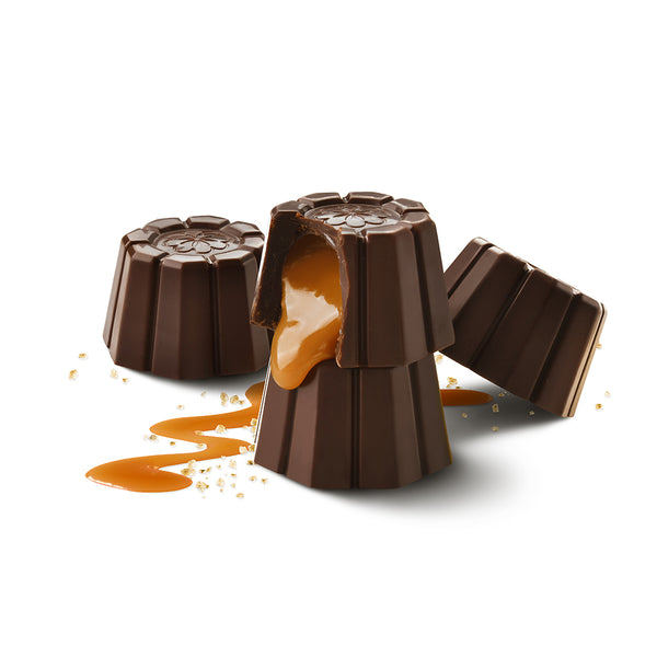70% Dark Sea Salt Caramel Cups - 4.5oz