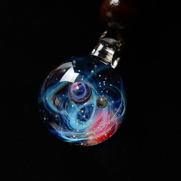 Cosmic Handmade Galaxy Glass Pendant
