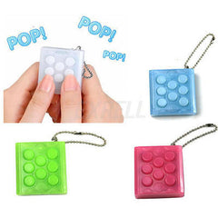 Mugen Puchi Puchi Endless Pop Pop Infinite Bubble Wrap Relieve Stress Key Chain
