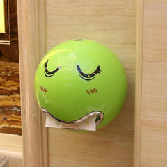 Ball Shaped Cute Emoji Waterproof Toilet Paper Box screw fixed