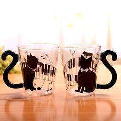 Lovely Cat Glass Mug