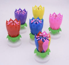 Flower Rotating Happy Birthday Candle