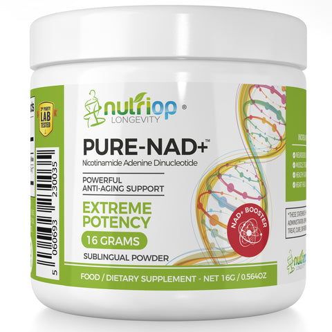 Image of PURE-NAD+, Nicotinamide Adenine Dinucleotide - Extreme Potency sublingual powder -16 grams