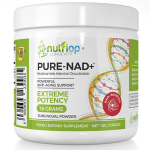 PURE-NAD+, Nicotinamide Adenine Dinucleotide - Extreme Potency sublingual powder -16 grams
