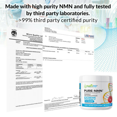 Image of PURE-NMN Nicotinamide Mononucleotide Extreme Potency sublingual powder -15 grams