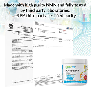 PURE-NMN Nicotinamide Mononucleotide Extreme Potency sublingual powder -15 grams