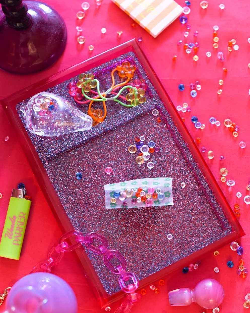 Rolling Tray insert in Party Glitter