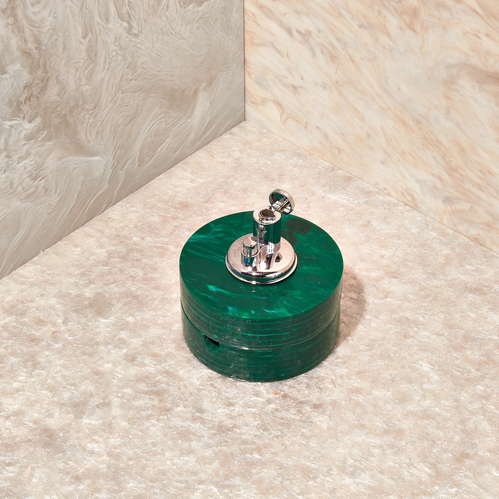 Table Top Lighter in Malachite