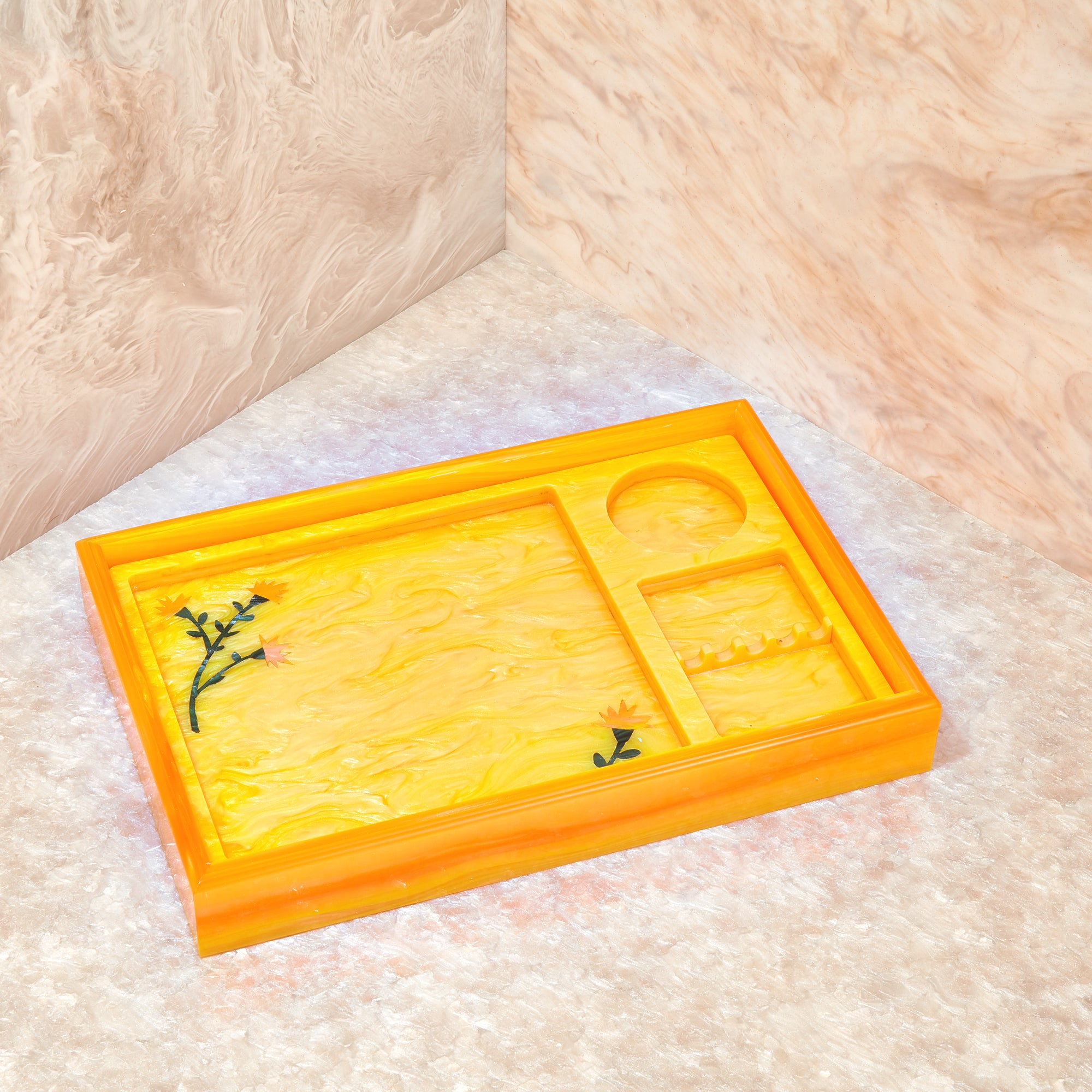 Rolling Tray Insert in Yellow