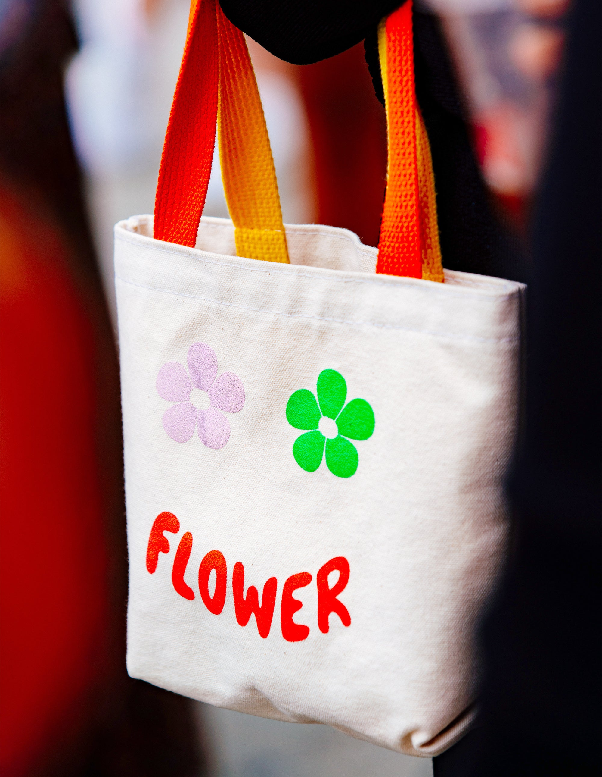 Mini Flower Shopper in Red