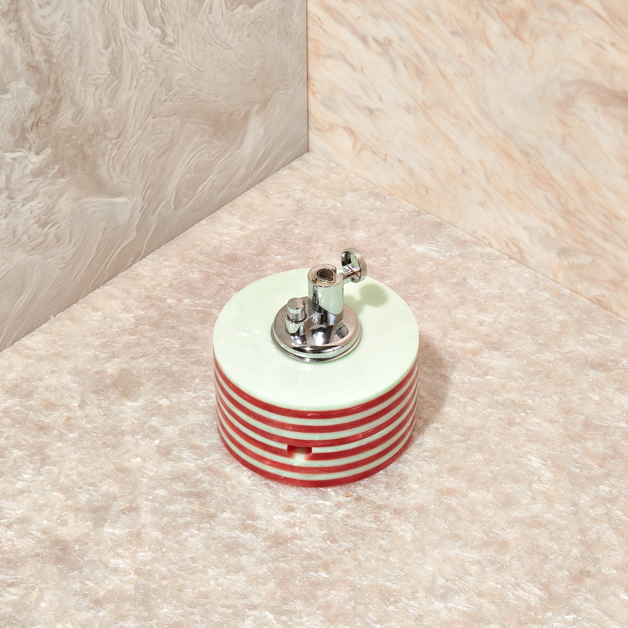 Tabletop Lighter in Mint Stripe