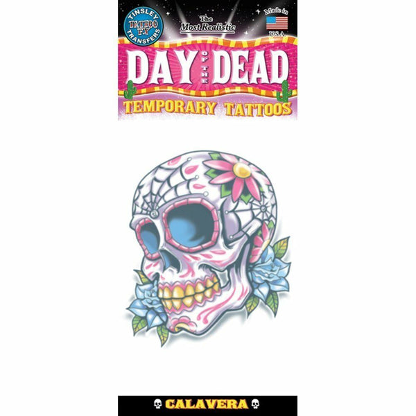 Tinsley Transfers Temporary Tattoo - Day Of The Dead Calaveras De Azucar