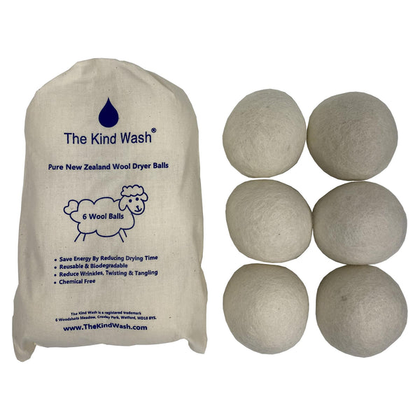 The Kind Wash Pure New Zealand Wool Dryer Balls 6-Pack