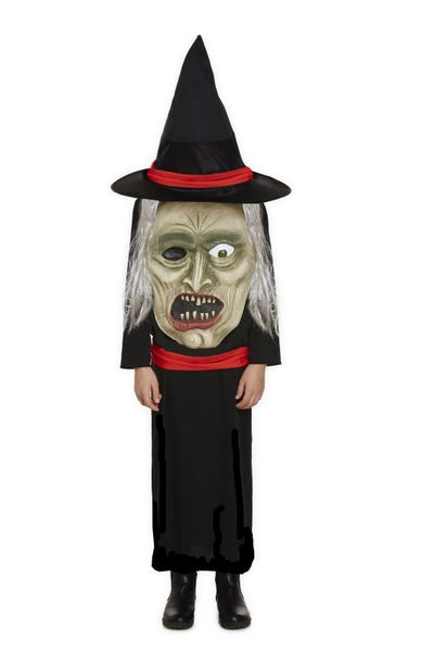 Henbrandt Witch With Jumbo Face Costume 4-6  Years