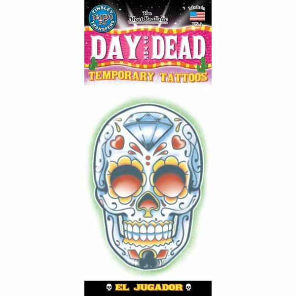 Tinsley Transfers Temporary Tattoo Day Of The Dead El Jugador