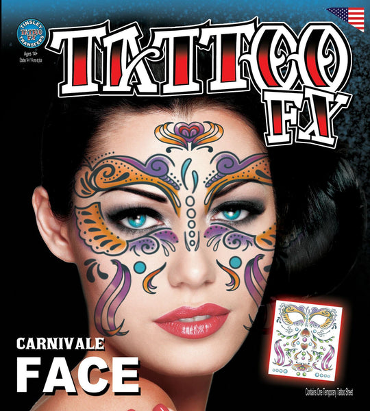Tinsley Transfers Face Tattoos Carnivale