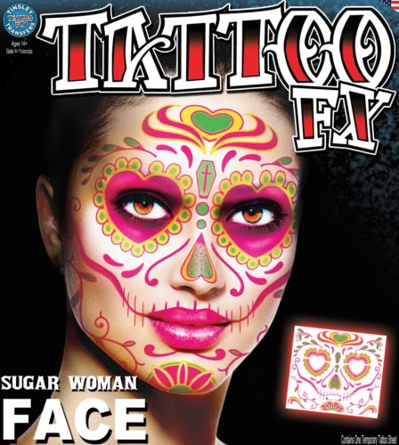 Tinsley Transfers Temporary Face Tattoo - Sugar Woman