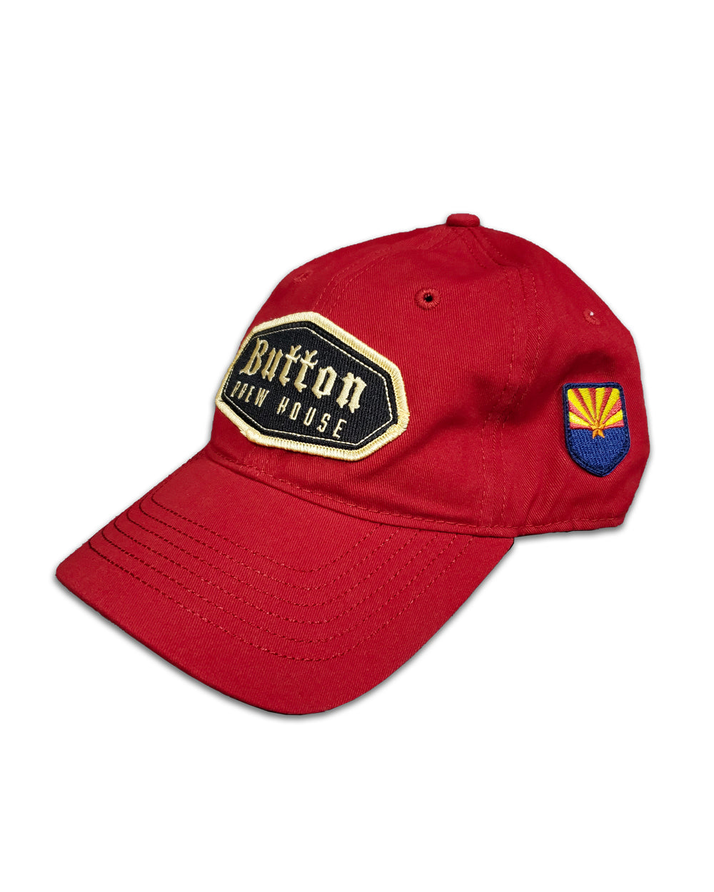 Button Red Dad Cap