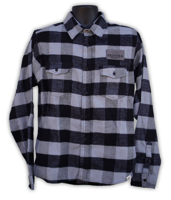 Grey and Black Flannel Shirt