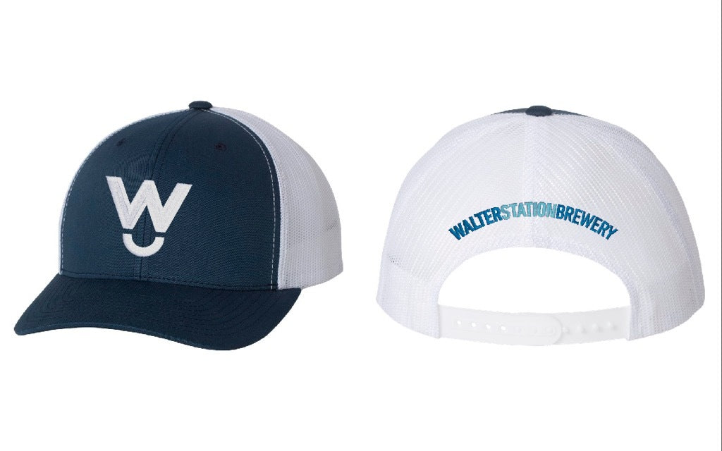 White Walter W (Navy/White Hat)