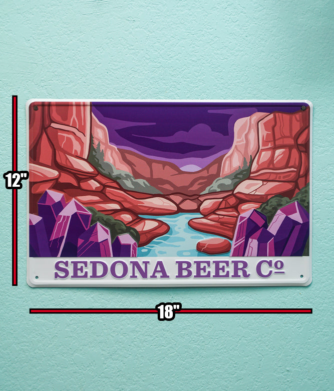 The Creek Tin Wall Sign