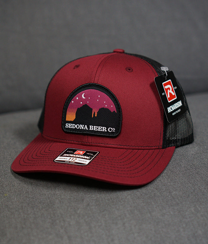 Sunset Arch Patch Hat (Cardinal/Black)