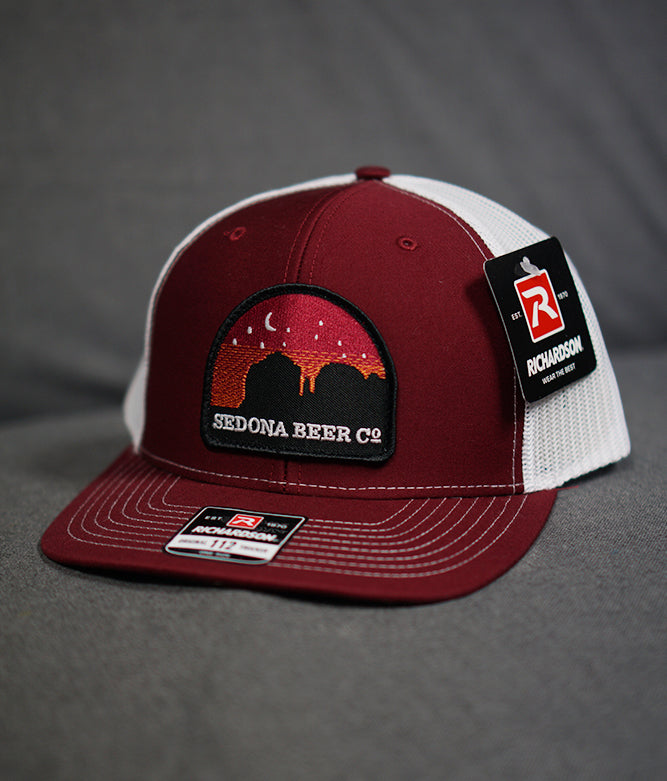 Sunset Arch Patch Hat (Cardinal-Mesh White)