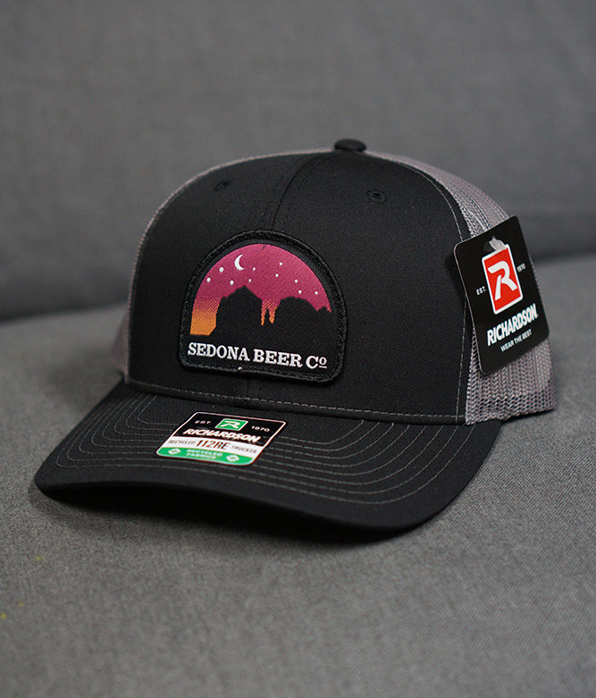 Sunset Arch Patch Hat (Black/Charcoal)