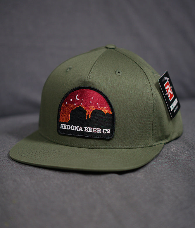 Sunset Arch Patch Hat (Army Olive)