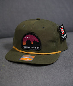 Sunset Arch Patch Hat (Loden/Gold)