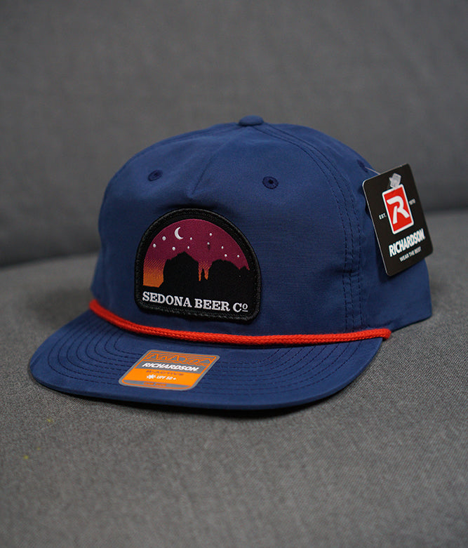 Sunset Arch Patch Hat (Navy/Red)