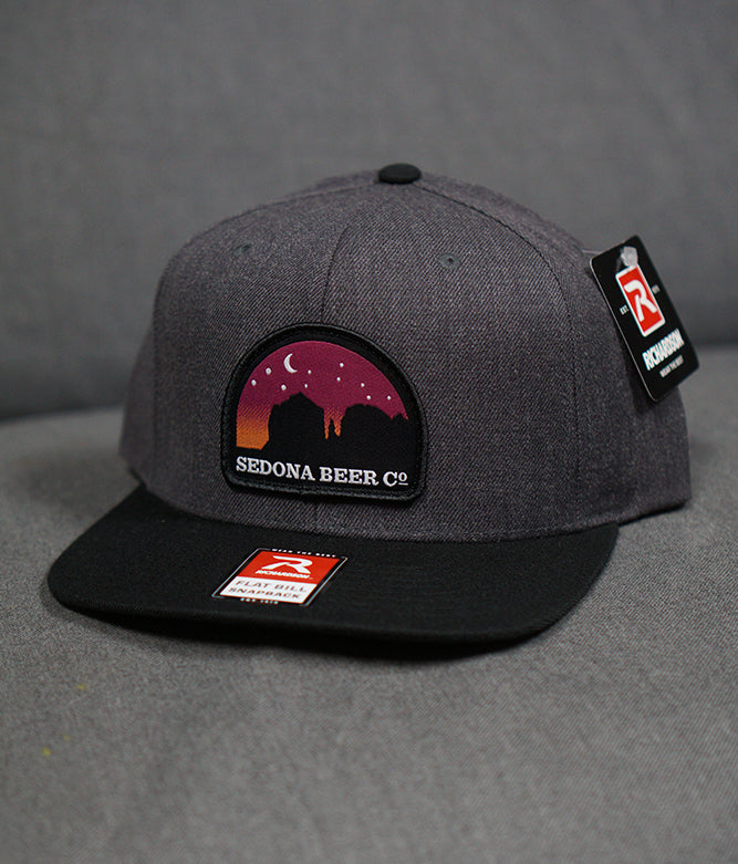 Sunset Arch Patch Hat (H. Charcoal/Black)