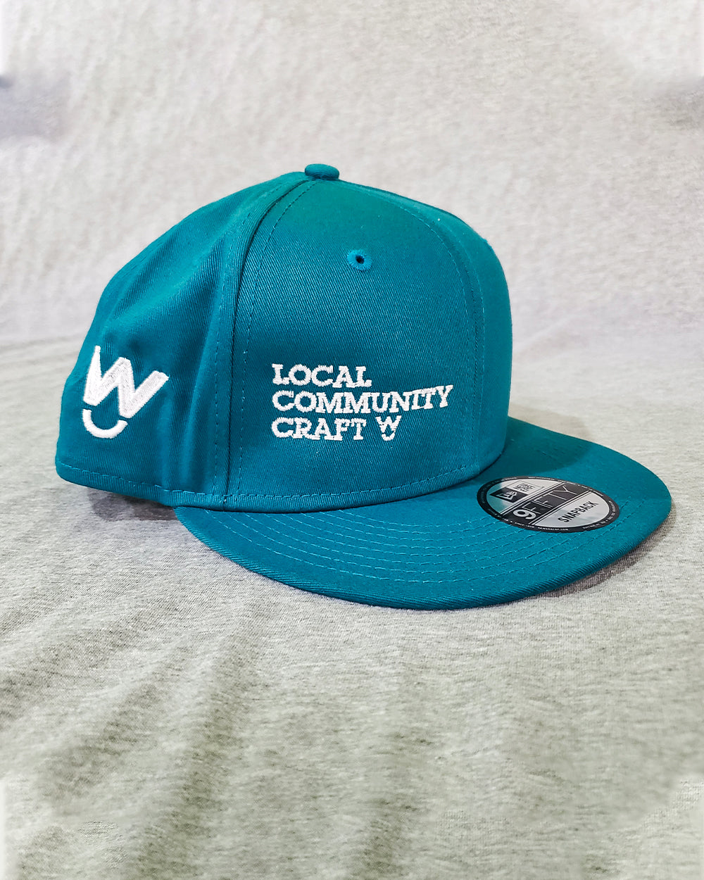 Local. Community. Craft Hat (Teal Hat)